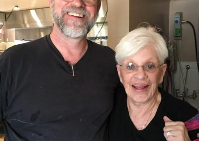 John with his mom