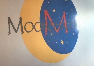 Moonshadows Logo on the wall