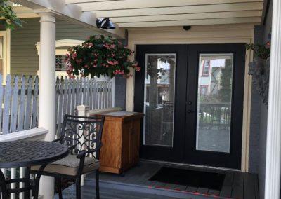 side porch area