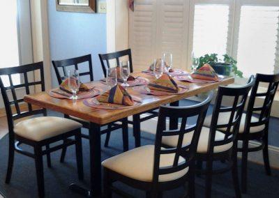 Dining Table in Crescent Room at Moonshadows Restaurant Luray VA