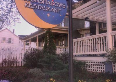 Moonshadows sign at Moonshadows Restaurant Luray VA