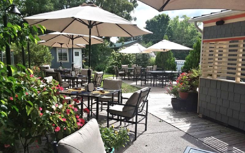 Garden House Patio - Moonshadows Restaurant Luray VA